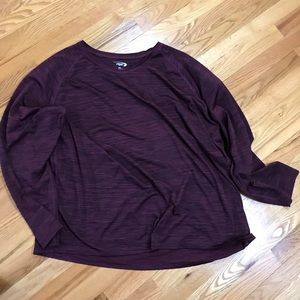 MTA Sport Men's Workout Long Sleeve Burgundy 3X